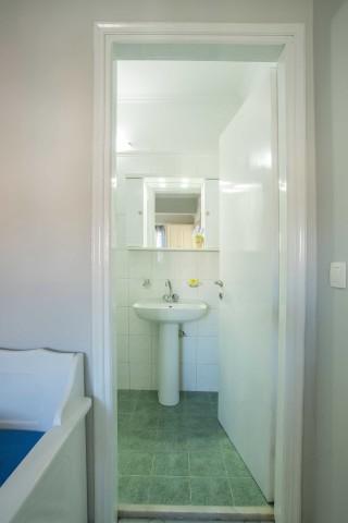 orange apartments bathroom