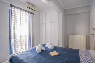 orange apartments big bedroom