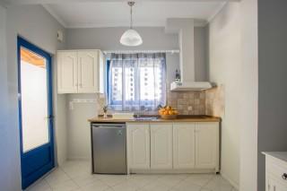 orange apartments kitchen